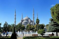 苏丹阿哈迈德清真寺看法蓝色清真寺 免版税图库摄影