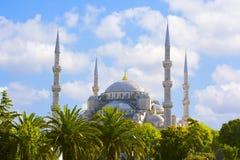 苏丹阿哈迈德清真寺蓝色清真寺,伊斯坦布尔,土耳其 库存照片