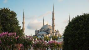 苏丹阿哈迈德清真寺蓝色清真寺,伊斯坦布尔,土耳其 免版税库存照片