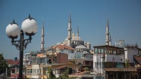 苏丹阿哈迈德清真寺蓝色清真寺,伊斯坦布尔,土耳其 图库摄影