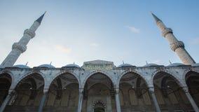 苏丹阿哈迈德清真寺蓝色清真寺,伊斯坦布尔,土耳其 免版税库存图片