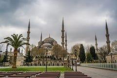 苏丹阿哈迈德清真寺/蓝色清真寺,伊斯坦布尔,土耳其 库存图片
