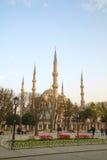 苏丹阿哈迈德清真寺(蓝色清真寺)在伊斯坦布尔 库存图片