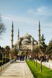 苏丹阿哈迈德清真寺(蓝色清真寺)在伊斯坦布尔 免版税库存图片