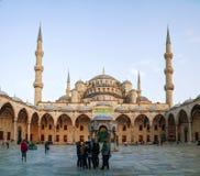 苏丹阿哈迈德清真寺(蓝色清真寺)在伊斯坦布尔 免版税库存照片