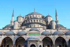 苏丹阿哈迈德清真寺(蓝色清真寺),伊斯坦布尔 免版税图库摄影