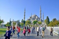 苏丹阿哈迈德清真寺(蓝色清真寺) 免版税库存图片