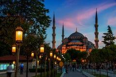 苏丹阿哈迈德蓝色清真寺在伊斯坦布尔,土耳其在 库存图片