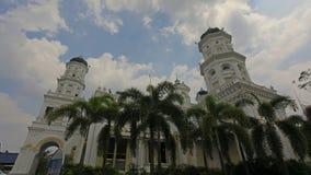 苏丹阿布・伯加尔状态清真寺在柔佛州马来西亚 股票录像