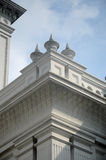 苏丹阿布・伯加尔状态清真寺建筑细节在柔佛州Bharu,马来西亚 图库摄影