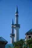 苏丹赴麦加朝圣过的伊斯兰教徒艾哈迈德Shah清真寺a尖塔  K 一个UIA清真寺在Gombak,马来西亚 图库摄影