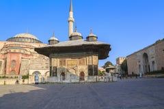 苏丹Ahmet喷泉III,伊斯坦布尔 免版税库存图片