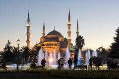 苏丹Ahmet清真寺,伊斯坦布尔,土耳其 库存图片