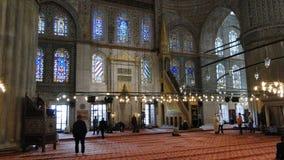 苏丹ahmet蓝色清真寺,火鸡的伊斯坦布尔 免版税库存照片