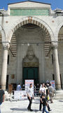 苏丹ahmet蓝色清真寺,火鸡的伊斯坦布尔 图库摄影