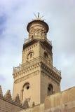 苏丹AlNasir穆罕默德ibn Qalawun清真寺的尖塔,开罗,埃及 免版税库存图片