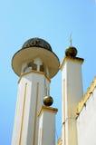 苏丹Mahmud清真寺尖塔在瓜拉Lipis,彭亨 免版税图库摄影