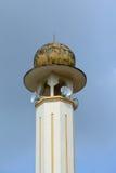 苏丹Mahmud清真寺尖塔在瓜拉Lipis,彭亨 免版税库存图片