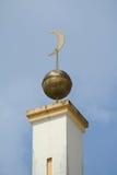 苏丹Mahmud清真寺建筑细节在瓜拉Lipis,彭亨 免版税库存图片