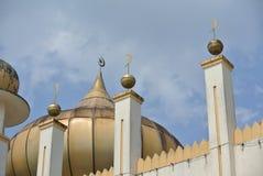 苏丹Mahmud清真寺建筑细节在瓜拉Lipis,彭亨 库存图片