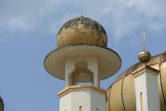 苏丹Mahmud清真寺建筑细节在瓜拉Lipis,彭亨 免版税库存照片
