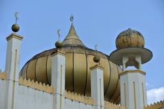 苏丹Mahmud清真寺建筑细节在瓜拉Lipis,彭亨 免版税图库摄影