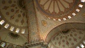 苏丹Suleyman清真寺的内部空间  伊斯坦布尔 股票视频