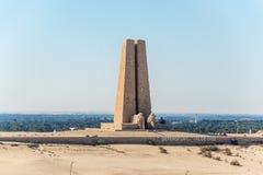 苏伊士运河在Ismalia,埃及的防御纪念碑 库存图片