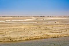 苏伊士运河,埃及 免版税库存照片