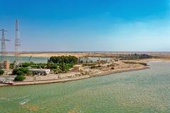 苏伊士运河,埃及 免版税库存图片