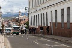 苏克雷, BOLIWIA - 2018年2月08日:街道在苏克雷 苏克雷是Th 库存照片