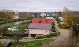 苏兹达尔老镇,俄罗斯风景  库存照片