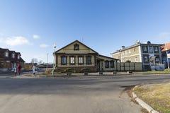 苏兹达尔,俄罗斯-06 11 2015年 老街道Pokrovskaya 俄罗斯旅行金黄圆环  库存照片