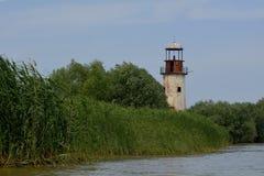 苏利纳被放弃的老灯塔  免版税图库摄影