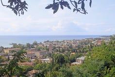 苏呼米都市风景-主要市阿布哈兹 免版税图库摄影