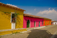 苏奇托托镇在萨尔瓦多 免版税库存照片