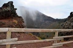 维苏威火山的枪口  库存照片