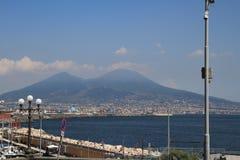 维苏威火山,意大利 库存图片