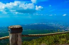 维苏威火山,那不勒斯,意大利难以置信的看法  库存照片