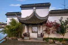 苏州市,吕智古镇房子 库存图片