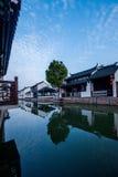 苏州市, Lu古镇跨接人 免版税库存图片