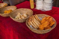 苏州市Luzhi古镇商业街食物 免版税库存照片