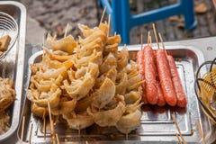 苏州市Luzhi古镇商业街食物 免版税图库摄影