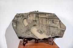 苏州开掘的公园展示雕塑江南水村庄 免版税库存照片