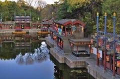 苏州街道在颐和园 免版税库存照片