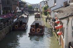 苏州,中国的威尼斯 库存图片
