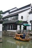 苏州,浙江,中国,中国水镇老镇和庭院  图库摄影