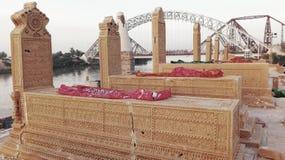 苏库尔的,信德省-巴基斯坦七个姐妹的坟园 库存照片