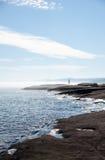 苏必利尔湖北部岸灯塔 免版税库存图片