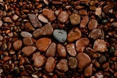 苏必利尔湖畔岸岩石设计 库存照片